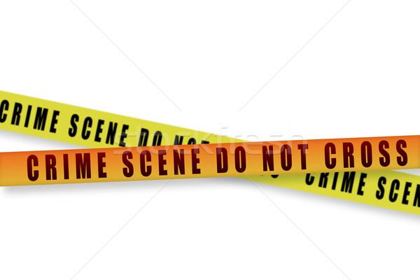Bűnügyi helyszín szalag kereszt háttér vonal vektor Stock fotó © FrameAngel