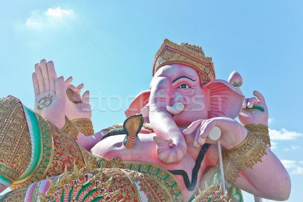 Isten istentisztelet fej elefánt béke Ázsia Stock fotó © FrameAngel