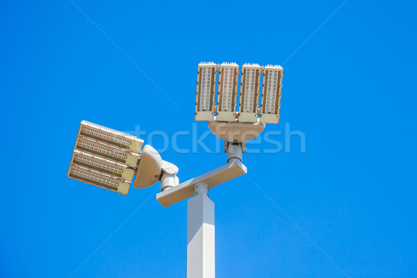 LED street lamps post on white background Stock photo © FrameAngel