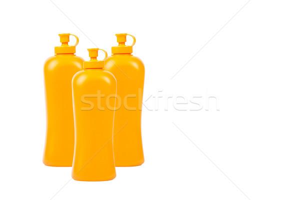 Grupo detergente garrafa isolado branco casa Foto stock © FrameAngel