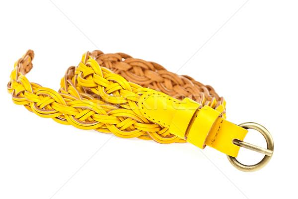 yellow belt  on whtie background Stock photo © FrameAngel