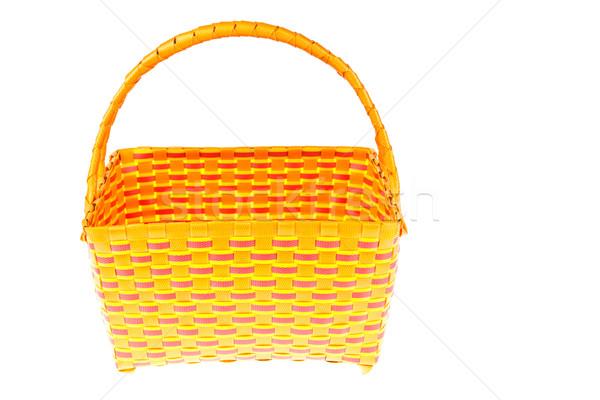 wicker plastic basket isolated on white background  Stock photo © FrameAngel