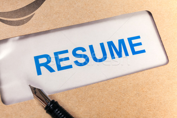 Resume letter background in brown envelop, can use as recruitmen Stock photo © FrameAngel
