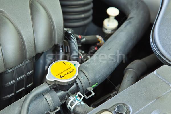 Uyarı su ısı bileşen araba motor Stok fotoğraf © FrameAngel