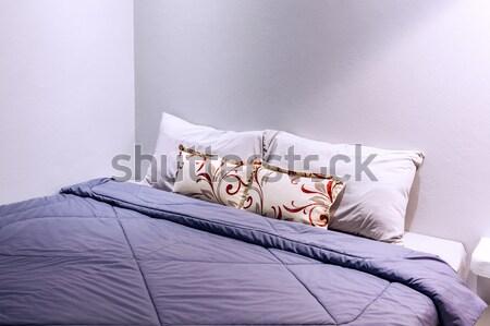 подушкой спальня лист древесины дизайна Сток-фото © FrameAngel