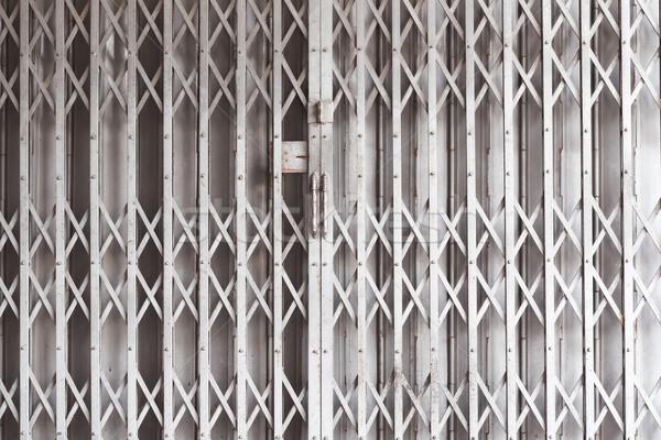 door metal, shutters shop or industrial building Stock photo © FrameAngel