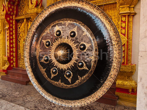 old gong in thai temple Stock photo © FrameAngel