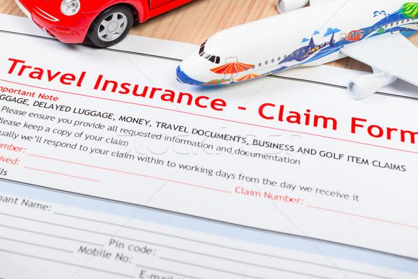 путешествия страхования утверждать применение форме таблице Сток-фото © FrameAngel