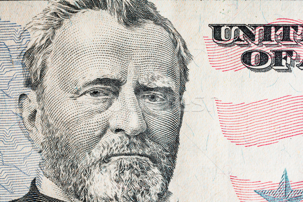 'Ulysses S. Grant' face on US fifty or 50 dollars bill macro, un Stock photo © FrameAngel