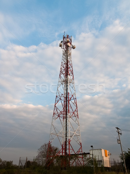 携帯電話 通信 アンテナ 塔 テレビ 建設 ストックフォト © FrameAngel