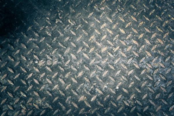 Metal grunge tekstury ściany streszczenie tle przemysłu Zdjęcia stock © FrameAngel