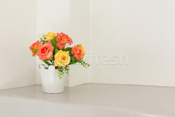 flower on white table corner Stock photo © FrameAngel