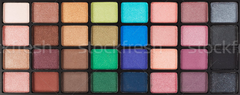 Coloré cosmétiques fard à paupières palette maquillage Photo stock © FrameAngel