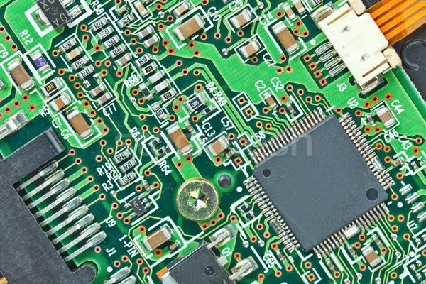 Foto stock: Moderno · conselho · eletrônico · componentes · macro · tecnologia