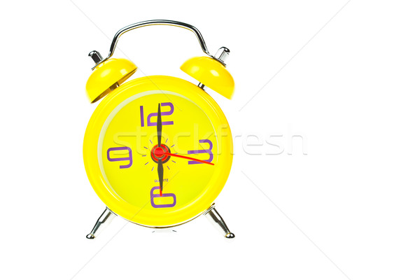 Clock, Yellow clock, showing nine o'clock, Isolated Stock photo © FrameAngel