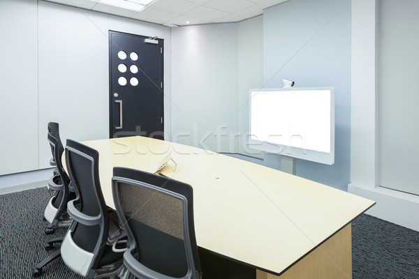 teleconferencing, video conference and telepresence business mee Stock photo © FrameAngel