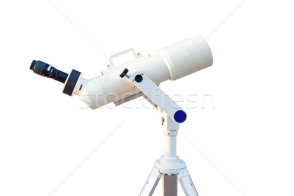 Telescopio aislado blanco búsqueda estrellas universo Foto stock © FrameAngel