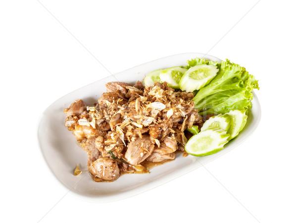 タイ料理 豚肉 ニンニク プレート 食品 緑 ストックフォト © FrameAngel