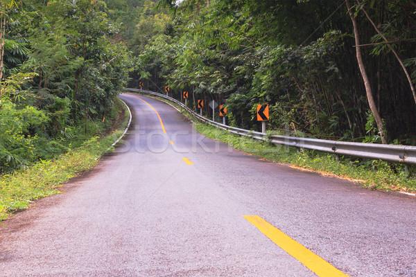 Curva asfalto carretera vista árbol naturaleza Foto stock © FrameAngel
