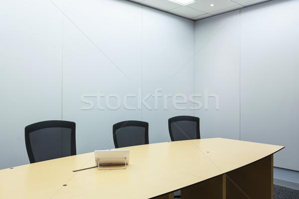 Video conferentie business zakelijke bijeenkomst kamer telefoon Stockfoto © FrameAngel