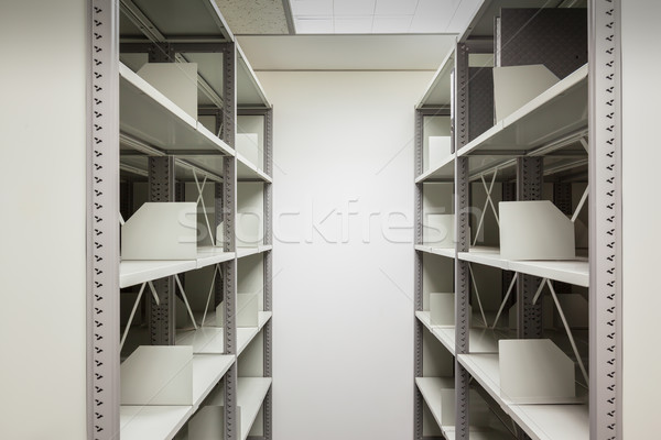 empty filing cabinet with wheel for business document secret and Stock photo © FrameAngel