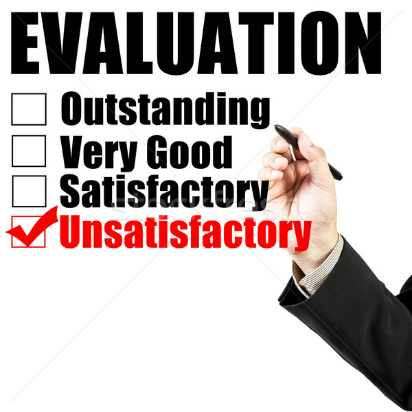 Evaluation form and hand check unsatisfactory Stock photo © FrameAngel