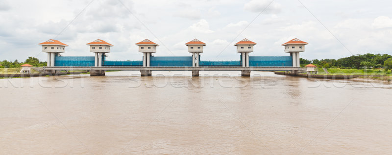 The water gate of BangPaKong River in Thailand Stock photo © FrameAngel
