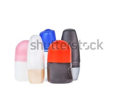 Colorful deodorant on white background Stock photo © FrameAngel