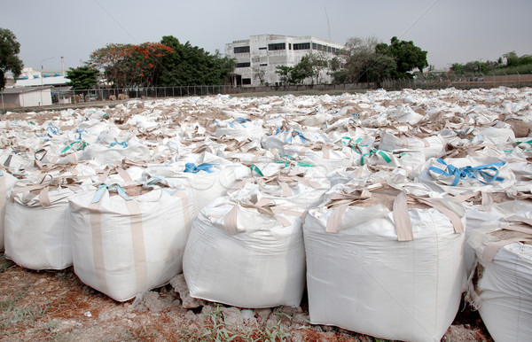 big sandbags for Flood protection Stock photo © FrameAngel
