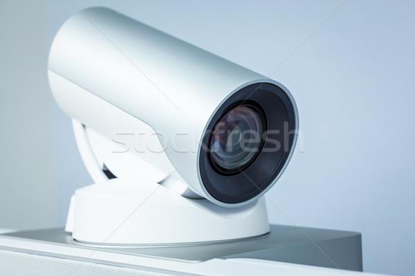Teleconferentie video conferentie camera technologie Stockfoto © FrameAngel