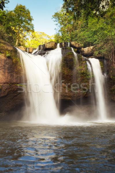 Waterfall names 'Haew Narok' in rainforest at KHAO YAI national  Stock photo © FrameAngel