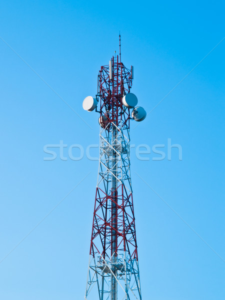 Mobile phone communication repeater antenna tower  Stock photo © FrameAngel