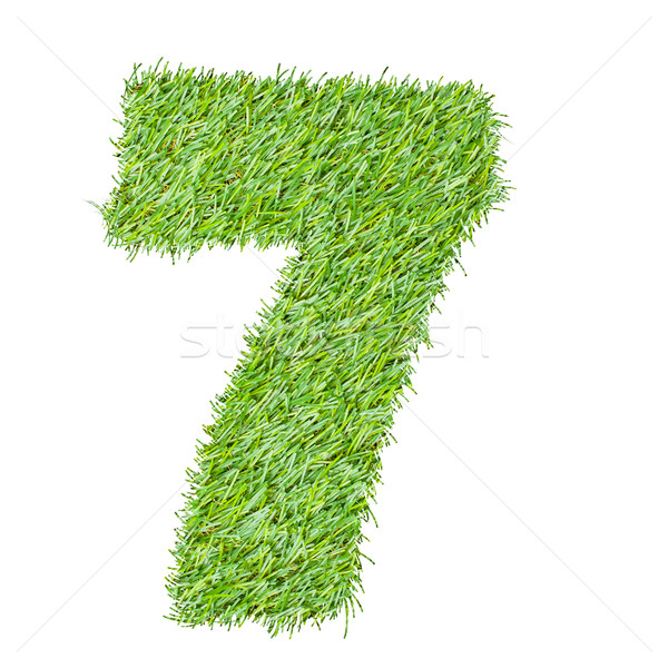 numbers from the green grass, isolated on white Stock photo © FrameAngel