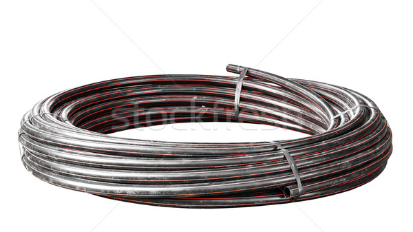 water pipe 'HDPE' rolls, black Stock photo © FrameAngel