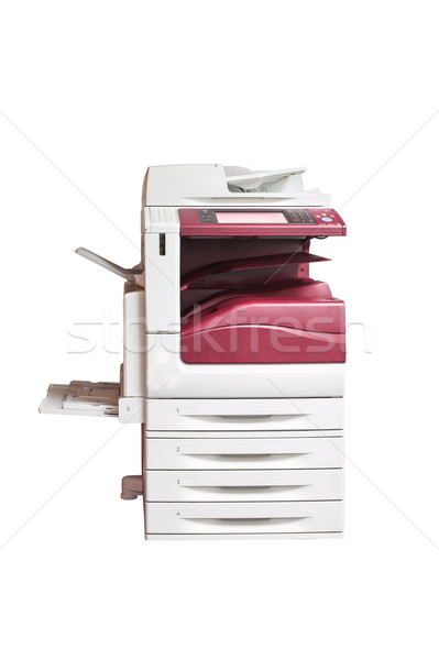 Laserowe drukarki skaner odizolowany biały Zdjęcia stock © FrameAngel