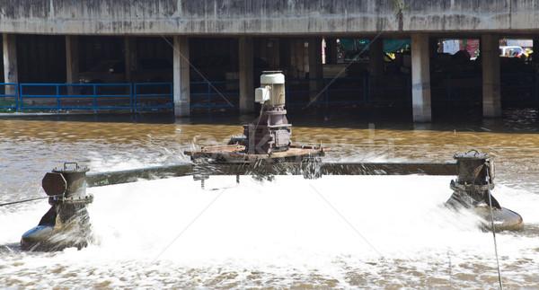 Afval water behandeling faciliteit plant patroon Stockfoto © FrameAngel
