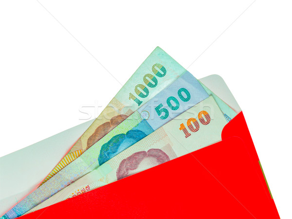 Red packet and Money Thai Banknote isolated for chinese new year Stock photo © FrameAngel