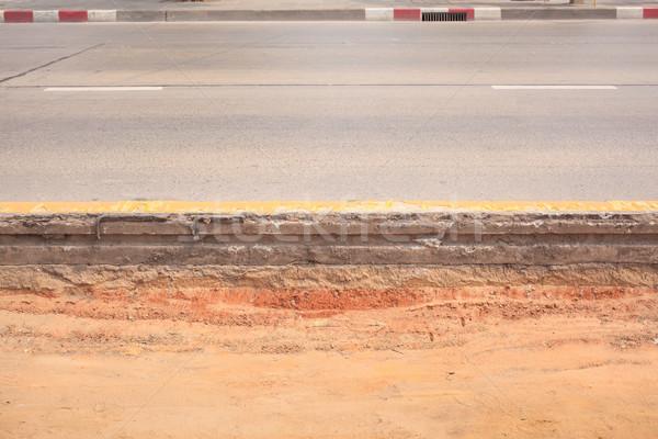 Strato asfalto strada muro cross sabbia Foto d'archivio © FrameAngel