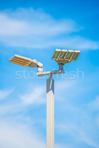 Rua lâmpadas postar blue sky céu luz Foto stock © FrameAngel