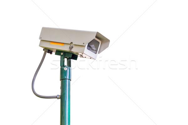 Cctv kamera biztonság fehér biztonság technológia Stock fotó © FrameAngel