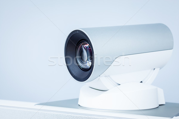 teleconference, video conference or telepresence camera closeup Stock photo © FrameAngel