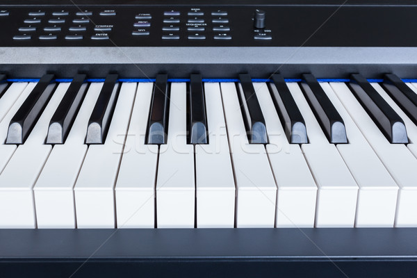 Piano Keyboard synthesizer closeup key frontal view Stock photo © FrameAngel