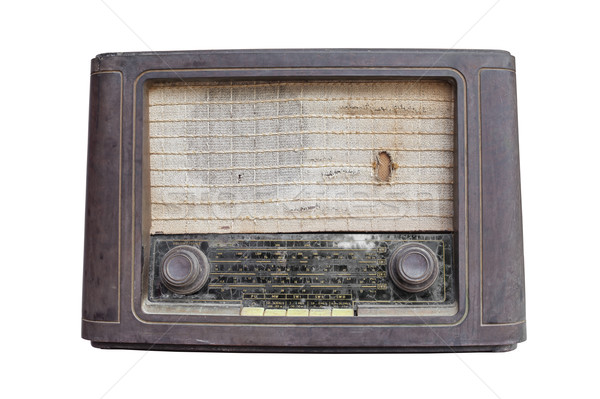 Old vintage radio isolated on white Stock photo © FrameAngel