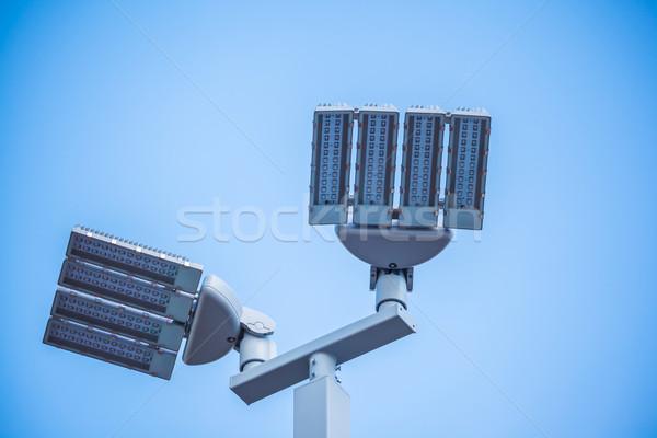 Rua lâmpadas postar branco céu luz Foto stock © FrameAngel