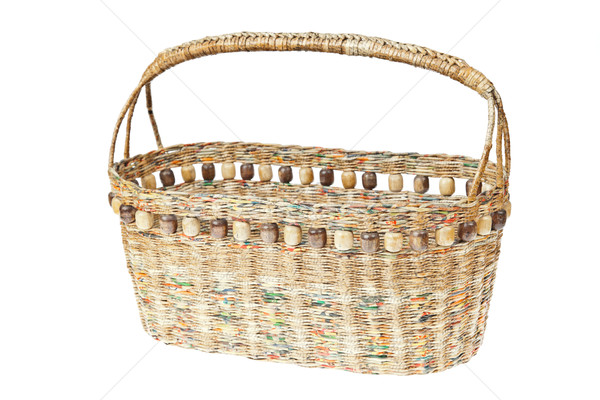 basket made from newspaper Stock photo © FrameAngel