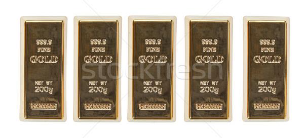 Gold bar top view Stock photo © FrameAngel