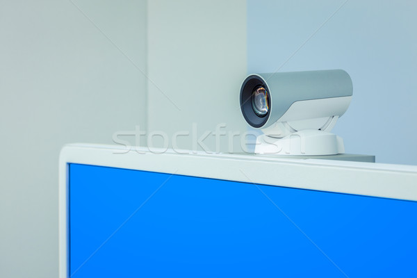teleconference, video conference or telepresence camera with blu Stock photo © FrameAngel