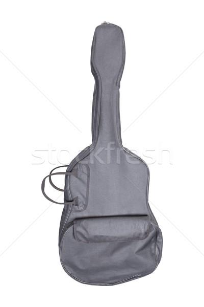 Gitaar weefsel zak zwarte kleur witte Stockfoto © FrameAngel