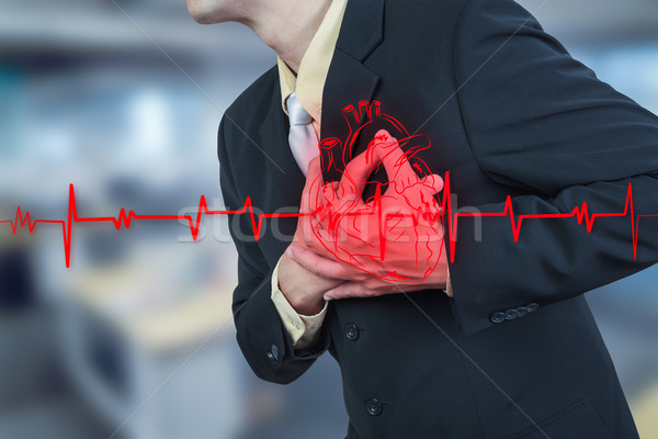 Stock photo: businessman having heart attack,insurance concept