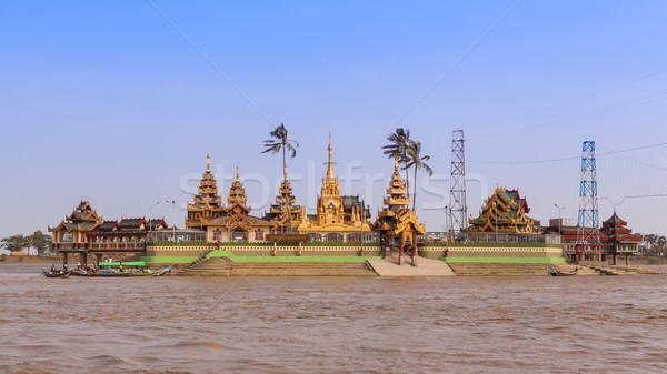 Pagoda Myanmar világ éjszaka szín ázsiai Stock fotó © FrameAngel